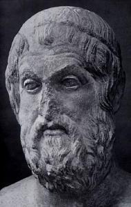 What kind of genre and format of play is Sophocles credited with inventing?